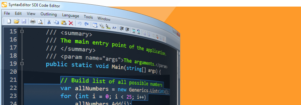 Visual Studio-Like Code Editing.