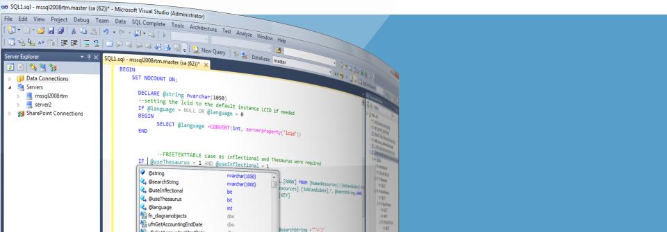 SQL Intellisense Add-in.