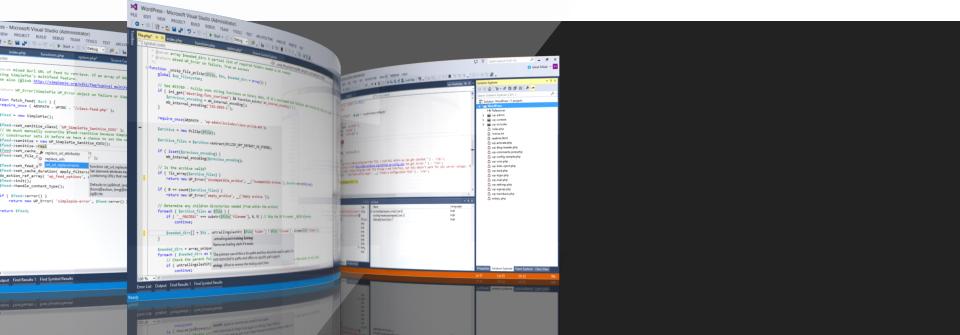 Develop PHP code in Visual Studio.