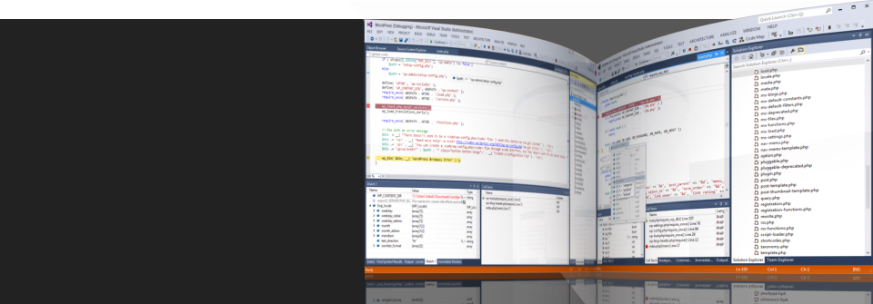 Develop PHP code in Visual Studio.