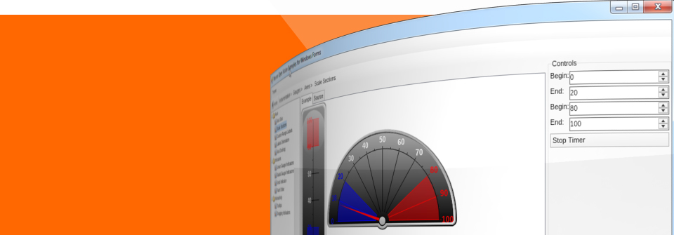 Advanced gauge control for .NET.