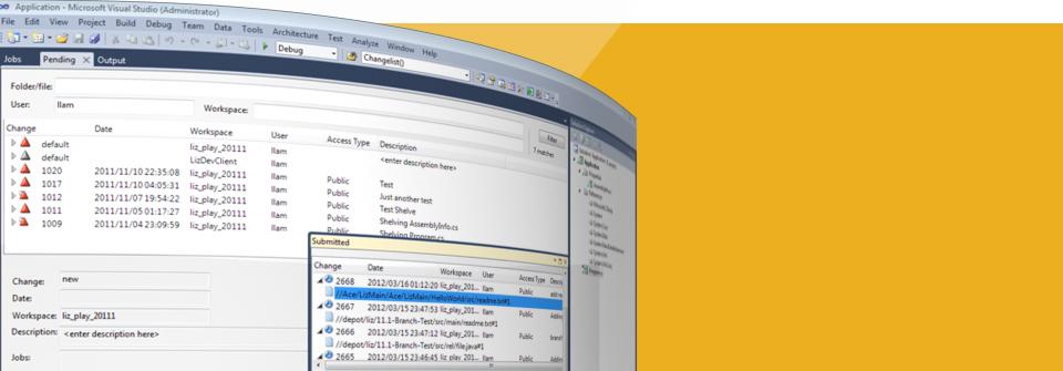 Perforce Plugin for Visual Studio.