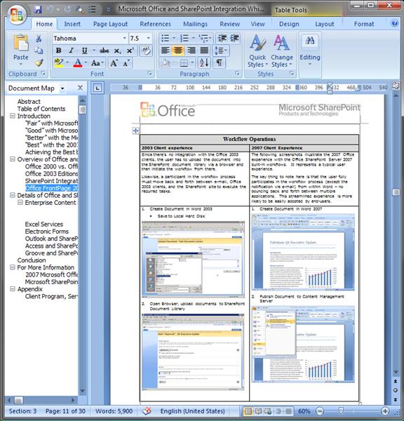 WordprocessingML (DOCX, XML)