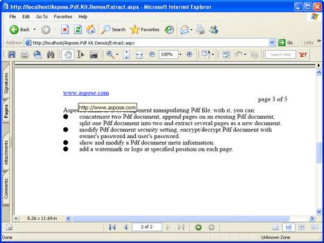 ASPOSE PDF KIT PDF EXTRACTOR PDF