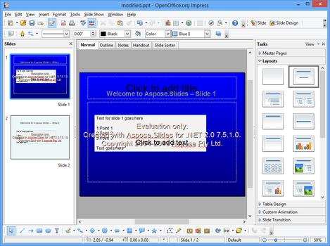 Aspose Slides for  NET