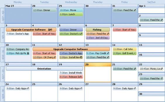 Codejock Calendar ActiveX