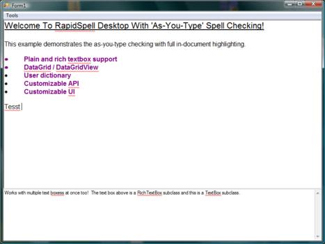 RapidSpell Java Desktop