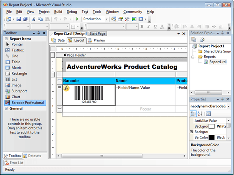 Neodynamic Barcode Professional for Reporting Services - Standard