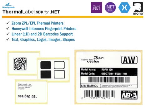 Neodynamic ThermalLabel SDK for  NET