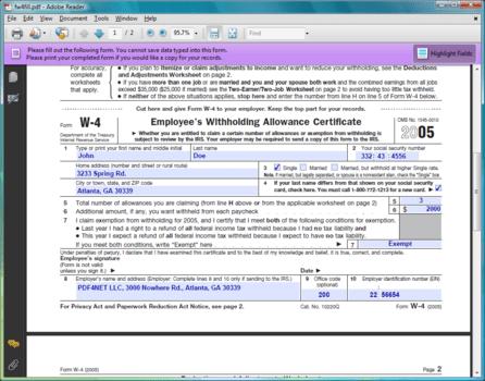 PDF Forms Fill PDF forms (Acroforms).