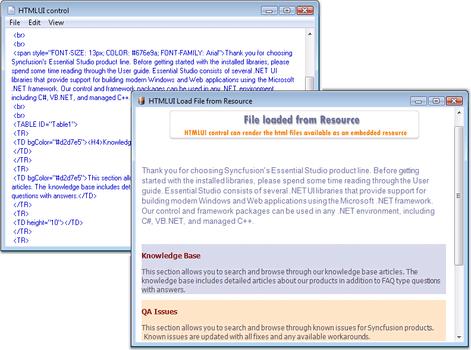Syncfusion Essential HTMLUI