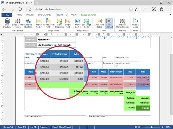 TX Text Control ActiveX Enterprise/XML