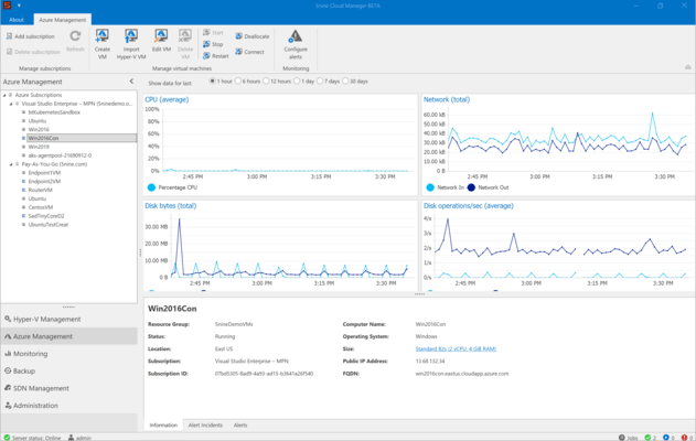 Screenshot of 5nine Cloud Manager