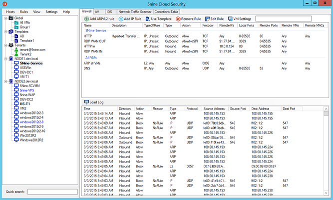 Screenshot of 5nine Cloud Security