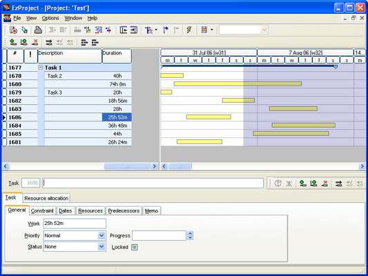 Screenshot of EzPlan-IT