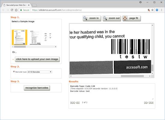 Schermata di Barcode Xpress Java