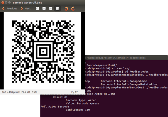 Barcode Xpress for Linux のスクリーンショット