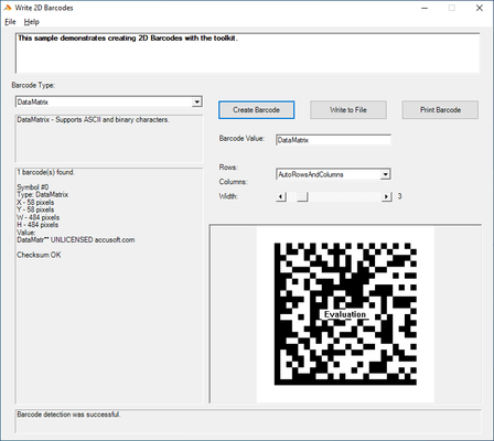 Barcode Xpress Professional .NET (英語版) のスクリーンショット