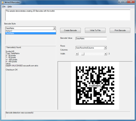 Screenshot of Barcode Xpress .NET