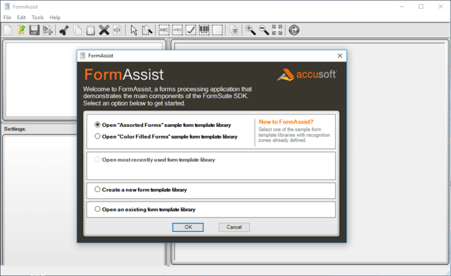 Screenshot of FormSuite for Structured Forms