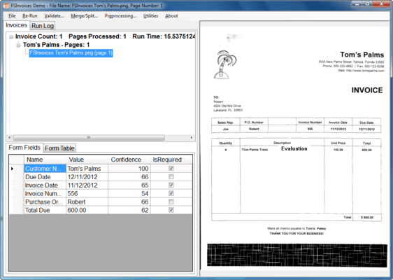 Screenshot of FormSuite for Invoices