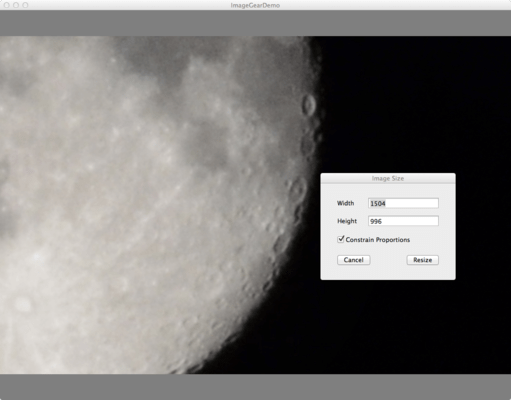 Screenshot of ImageGear for C and C++ for Mac
