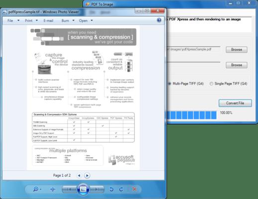 PDFXpress ActiveX(英語版) のスクリーンショット