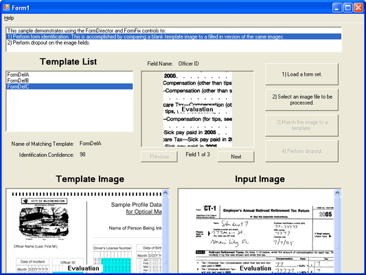 Screenshot of FormFix Professional ActiveX