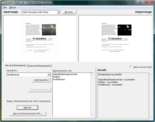 Capture d'écran de ScanFix Xpress ActiveX