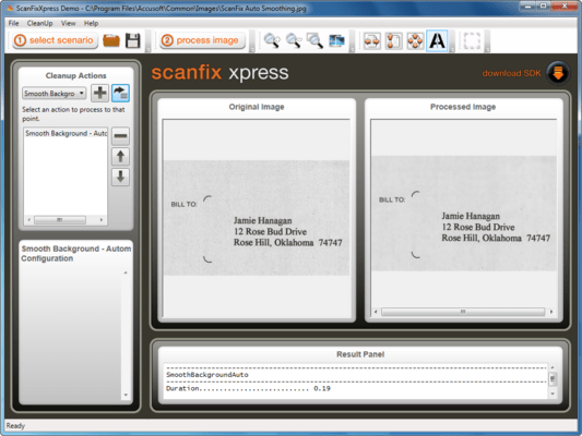 Screenshot of ScanFix Xpress .NET