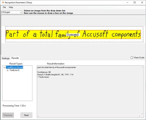 Screenshot of SmartZone ICR Professional