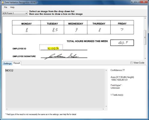 Screenshot of SmartZone ICR Standard