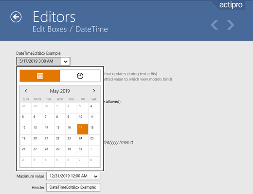 Screenshot of Actipro Editors for Universal Windows