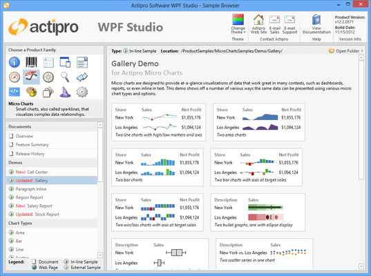 Screenshot of Actipro Micro Charts for WPF