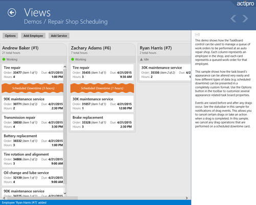 Screenshot of Actipro Views for UWP