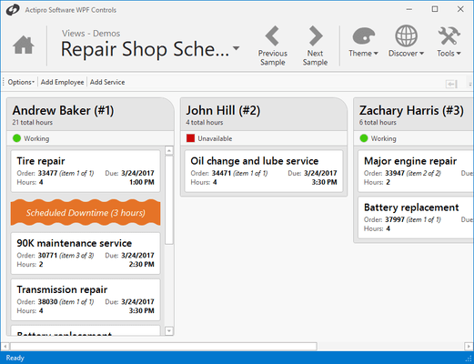 Screenshot of Actipro Views for WPF
