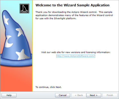 Screenshot of Actipro Wizard for Silverlight