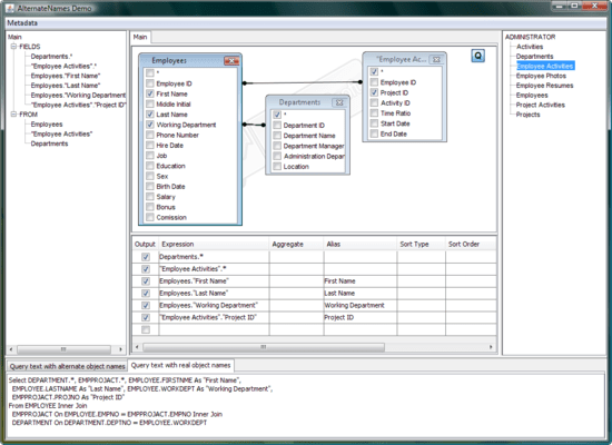 Screenshot of Active Query Builder for Java