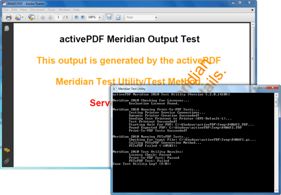 Screenshot of ActivePDF Meridian