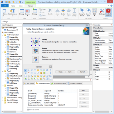 Screenshot of Advanced Installer Enterprise