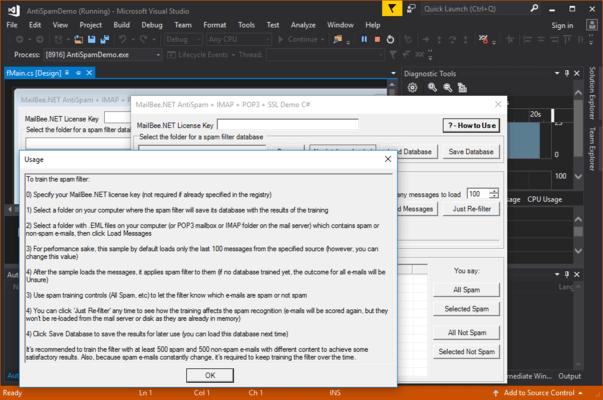 Screenshot of MailBee.NET AntiSpam