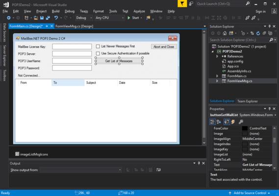 Screenshot of MailBee.NET POP3 Bundle