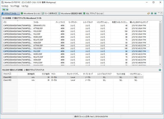 Actian Zen Workgroup(日本語版) のスクリーンショット