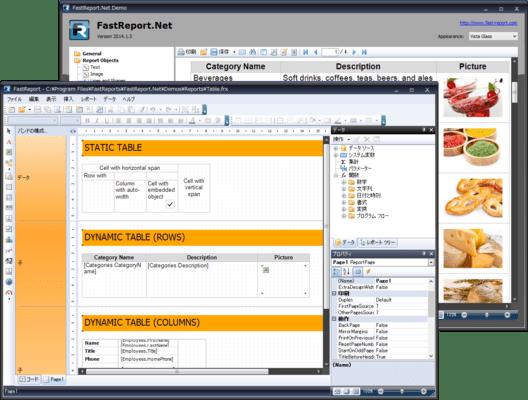 FastReport.Net(日本語版) のスクリーンショット