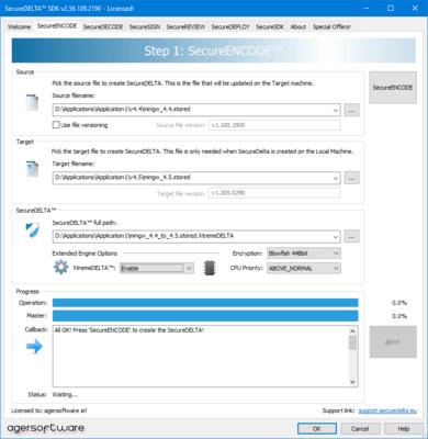 Screenshot of SecureDELTA SDK