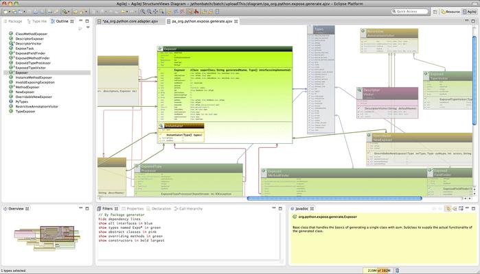 Captura de pantalla de AgileJ StructureViews