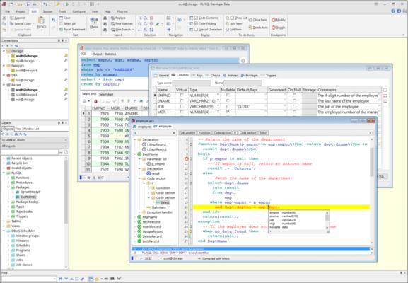 PL/SQL Developer 的螢幕截圖