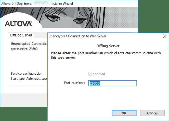 Captura de tela do Altova DiffDog Server