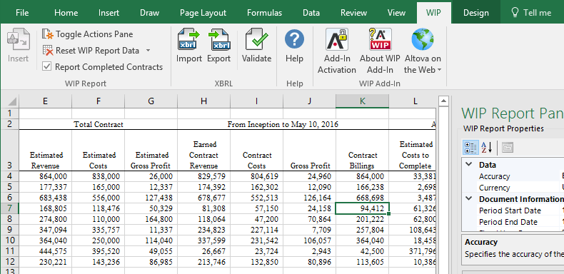 work in process excel template