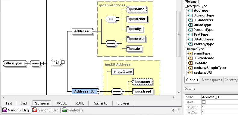 Screenshot of Altova XMLSpy Professional XML Editor